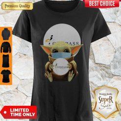 Original Baby Yoda Face Mask Hug Compass Group Shirt