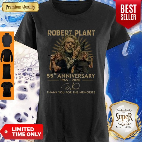 55th Anniversary 1965-2020 Robert Plant Signature Shirt