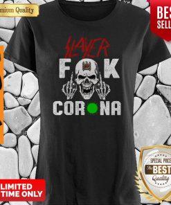 Funny Slayer Fuck Coronavirus Version Skull Shirt