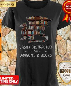 Perfect Dragon And Books Easily Distracted Shirt