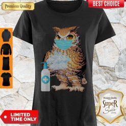 Premium Owl Mask Washing Hands Coronavirus Shirt