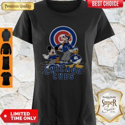 MLB Chicago Cubs Mickey Mouse Goofy And Donald Duck Baseball Shirt