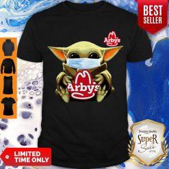 Star Wars Baby Yoda Face Mask Hug Arby's COVID-19 Shirt