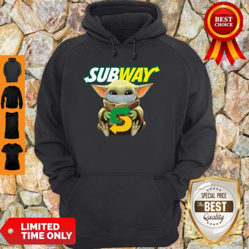 Star Wars Baby Yoda Mask Subway I Can't Stay At Home COVID-19 Hoodie