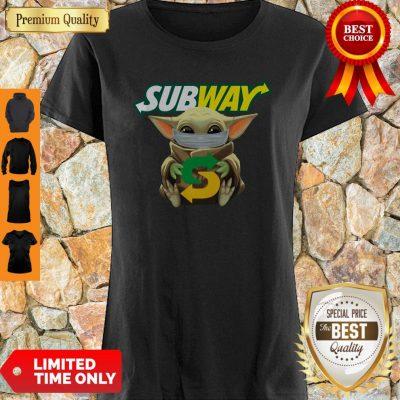Star Wars Baby Yoda Mask Subway I Can't Stay At Home COVID-19 Shirt