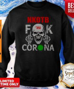 Official NKOTB Fuck Coronavirus Version Skull Sweatshirt