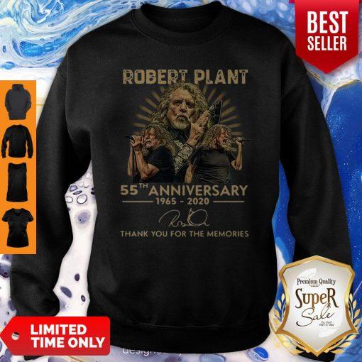 55th Anniversary 1965-2020 Robert Plant Signature Sweatshirt