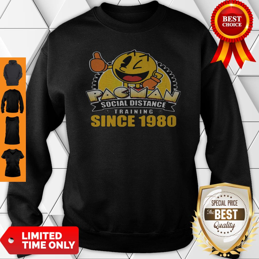 Pacman Social Distance Training Since 1980 Classic Sweatshirt