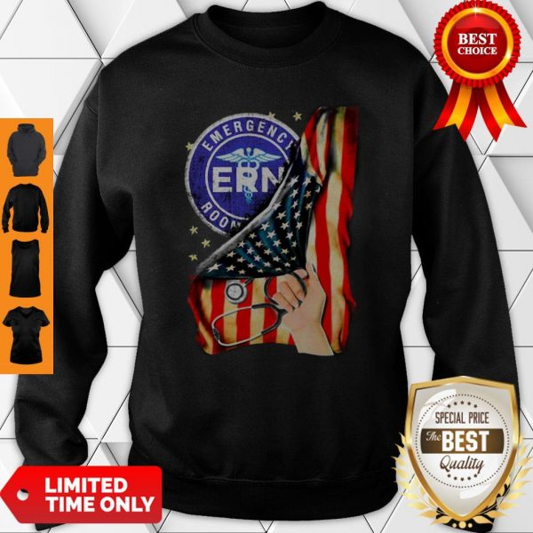 Official Emergency Room And American Flag Sweatshirt