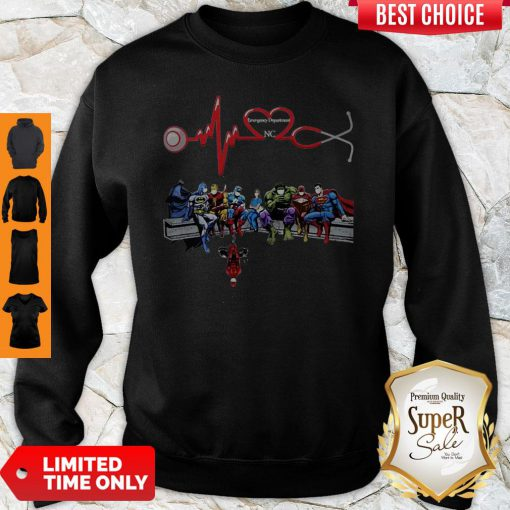 Nurse And Super Hero Emergency Department NC Sweatshirt
