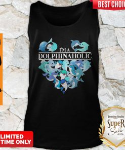 Official I'm A Dolphin Aholic Heart Tank Top