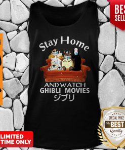 Official Stay Home And Watch Ghibli Movies Tank Top