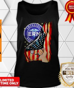 Official Emergency Room And American Flag Tank Top
