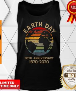 Nice Earth Day 50th Anniversary 1970 Retro Sunset Retro Tank Top