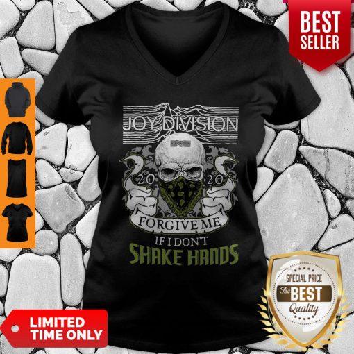Official Joy Division 2020 Forgive Me If I Don't Shake Hands V-neck
