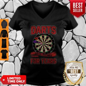 Awesome Darts Social Distance Training For Years V-neck