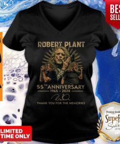 55th Anniversary 1965-2020 Robert Plant Signature V-neck