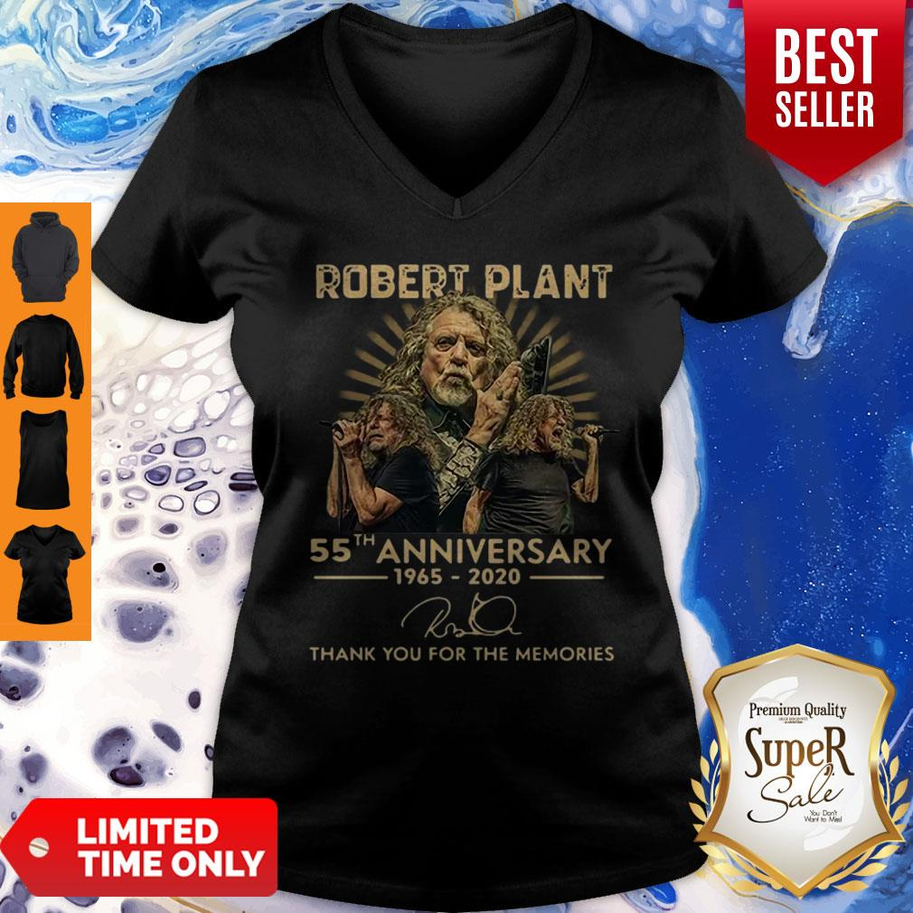 55th Anniversary 1965-2020 Robert Plant Signature V-neck
