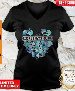 Official I'm A Dolphin Aholic Heart V-neck