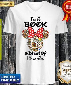 Funny I'm A Book And Disney Kinda Girl V-neck