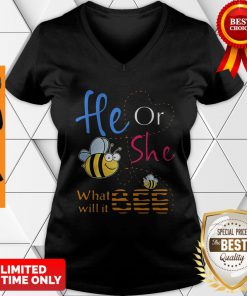 Official He Or She What Will It Bee Gift V-neck