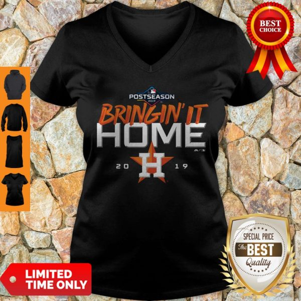 Official Houston Astros Bring It Home 2019 V-neck