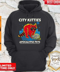 Awesome City Kitties Apocalypse Pets Hoodie