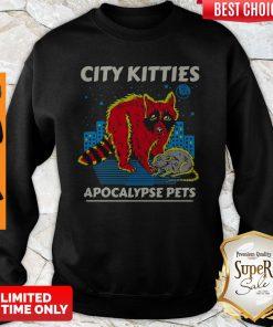 Awesome City Kitties Apocalypse Pets Sweatshirt