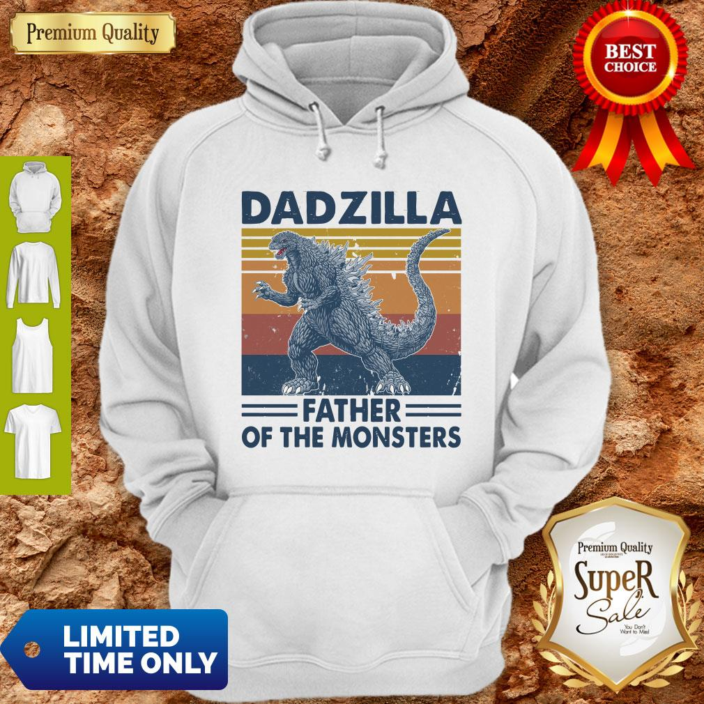 Funny Godzilla Father Of The Monsters Vintage Hoodie