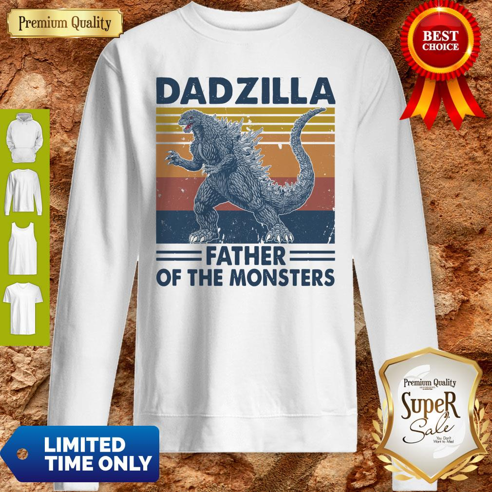 Funny Godzilla Father Of The Monsters Vintage Sweatshirt