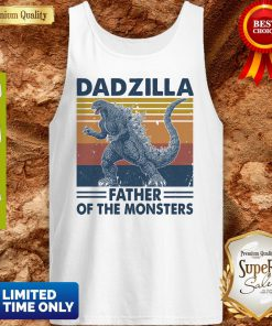 Funny Godzilla Father Of The Monsters Vintage Tank Top