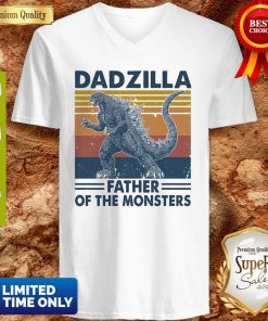 Funny Godzilla Father Of The Monsters Vintage V-neck