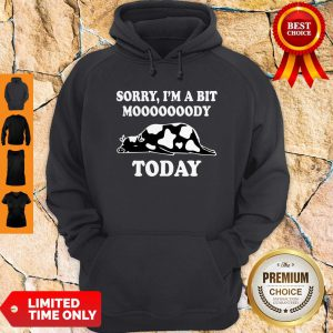 Funny Sorry I'm A Bit Moooody Today Cow Hoodie