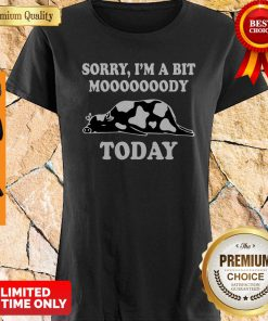 Funny Sorry I'm A Bit Moooody Today Cow Shirt