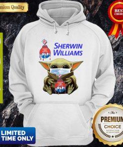 Funny Star Wars Baby Yoda Hug Sherwin Williams Mask Covid-19 Hoodie