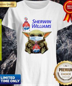 Funny Star Wars Baby Yoda Hug Sherwin Williams Mask Covid-19 Shirt