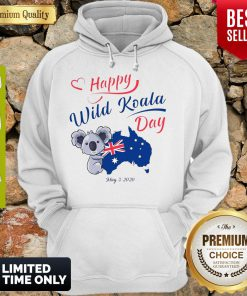 Nice Happy Wild Koala Day May 3 2020 Australia Flag Hoodie