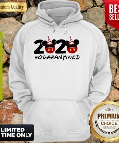 Pretty Disney Mickey Mouse 2020 #Quarantined Coronavirus Hoodie