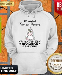 Funny Unicorn I'm Having Technical Problems With My Attitude Today Avoidance Hoodie