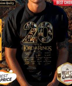 Nice 20 Years Of The Lord Of The Rings 2001 2021 Signatures Shirt