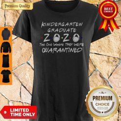 Nice Kindergarten Graduate 2020 Mask The One Where They Were Quarantined Shirt