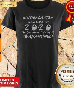 Nice Kindergarten Graduate 2020 Mask The One Where They Were Quarantined Shirt