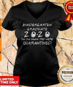 Nice Kindergarten Graduate 2020 Mask The One Where They Were Quarantined V-neck