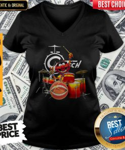Nice Muppets Animal Playing Drum Gretsch V-neck
