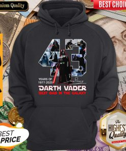 Original 43 Years Of 1977 2020 Darth Vader Best Dad In The Galaxy Signature Hoodie