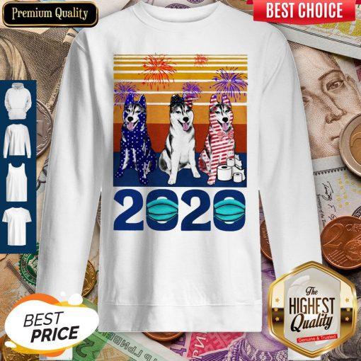 Original Husky 4 Of July 2020 Quarantined Vintage Sweatshirt
