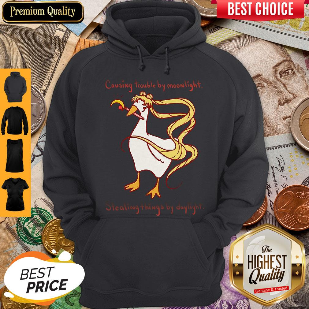 Perfect Causing Trouble By Moonlight Stealing Things By Daylight Hoodie