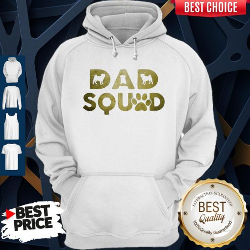 Premium Dad Squad Pug Dog Father's Day Hoodie