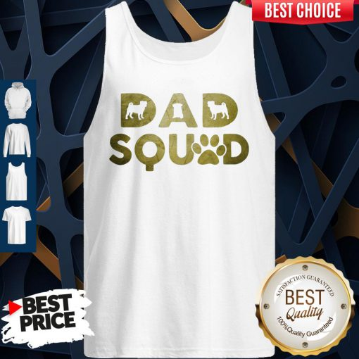 Premium Dad Squad Pug Dog Father's Day Tank Top