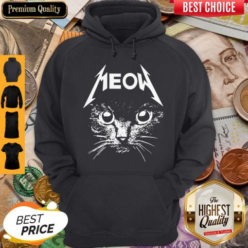 Pretty Great Metallica Meowtalica Black Cat Hoodie